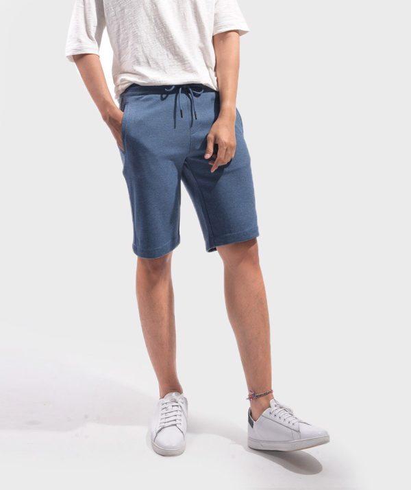 Quần Short Nam Knit - QS24300 xanh bien