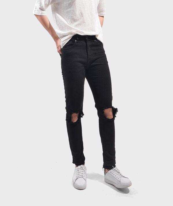 Quần Jean Nam Form Skinny Rách - QJ111018 1