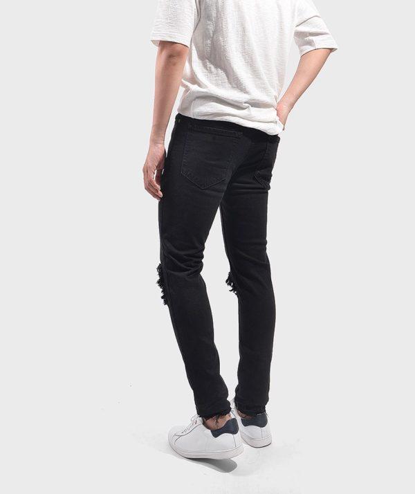 Quần Jean Nam Form Skinny Rách - QJ111018 2