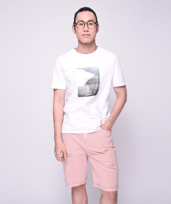 Quần Short Nam Dye Jeans Routine mau hong 1