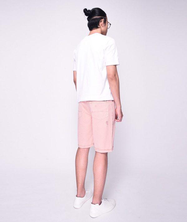 Quần Short Nam Dye Jeans Routine mau hong 2