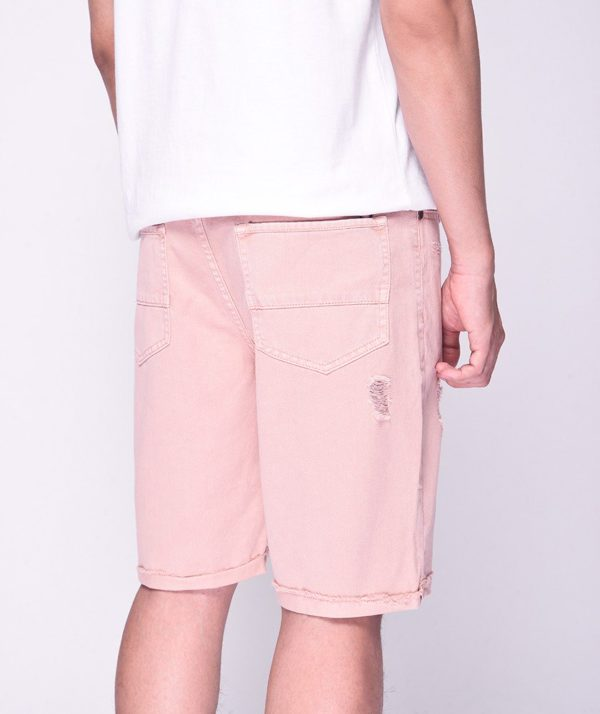 Quần Short Nam Dye Jeans Routine mau hong 3