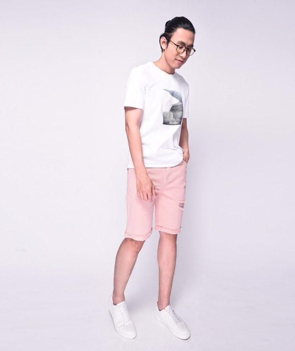 Quần Short Nam Dye Jeans Routine mau hong