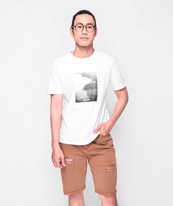 Quần Short Nam Dye Jeans Routine mau nâu 2