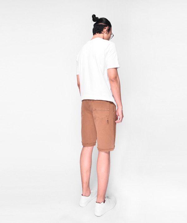 Quần Short Nam Dye Jeans Routine mau nâu 3
