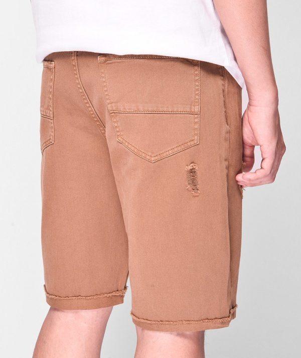 Quần Short Nam Dye Jeans Routine mau nâu 4