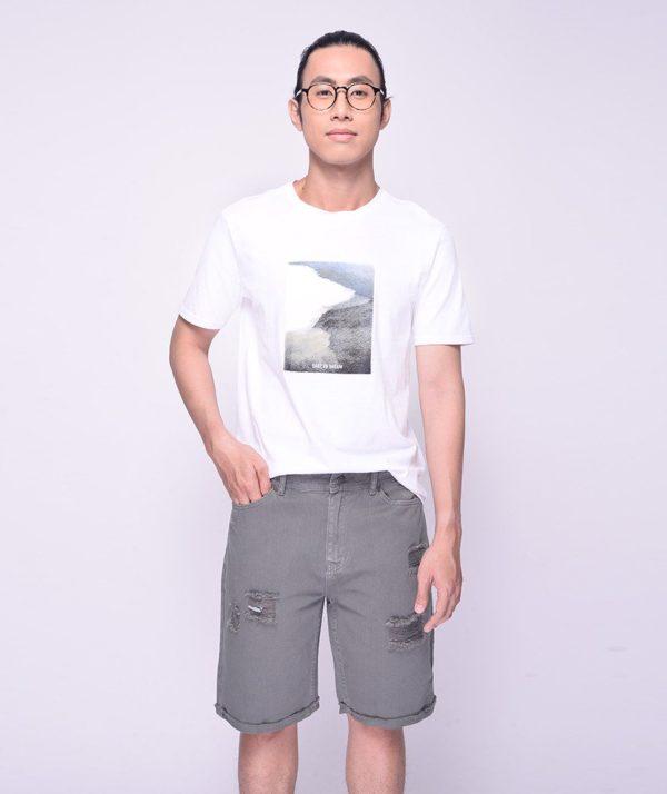 Quần Short Nam Dye Jeans Routine mau xám 1