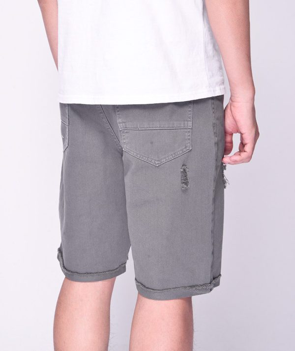 Quần Short Nam Dye Jeans Routine mau xám 3