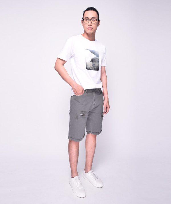 Quần Short Nam Dye Jeans Routine mau xám
