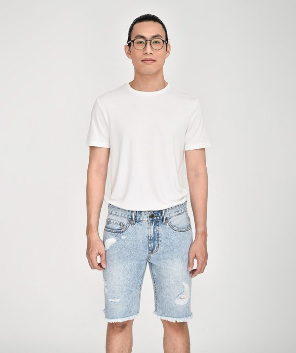 Quần Short Nam Jean Straight - QS21300 1