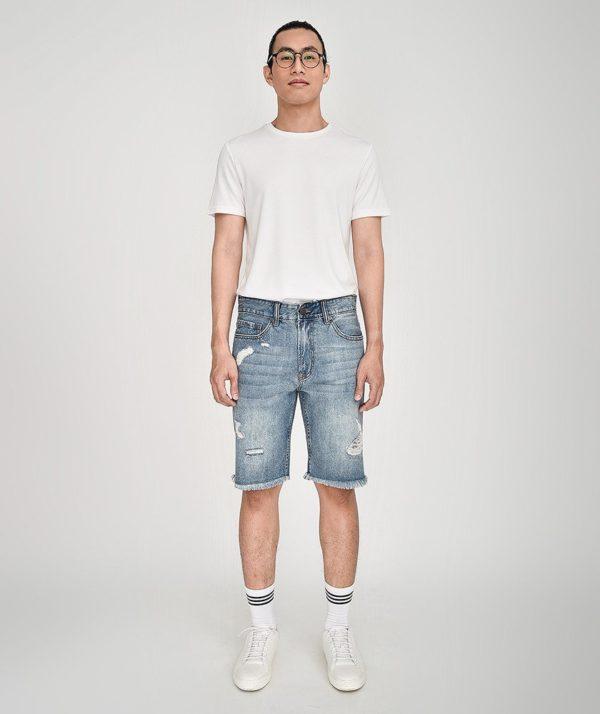 Quần Short Nam Jean Straight - QS21300 4