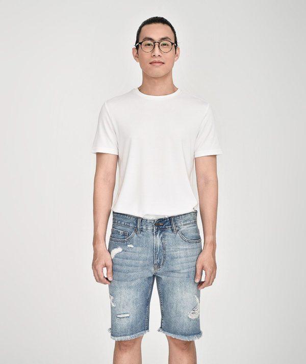 Quần Short Nam Jean Straight - QS21300 5