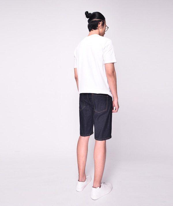 Quần Short Nam jean Form Slim navy routine- QS112019 2