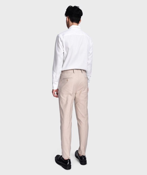 Quần Vải Nam Form Slim Cropped Be - QV125023 1