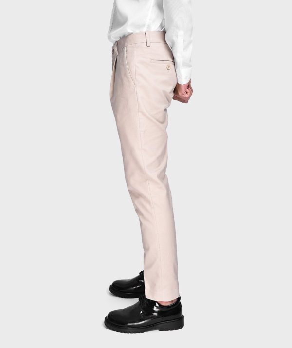 Quần Vải Nam Form Slim Cropped Be - QV125024