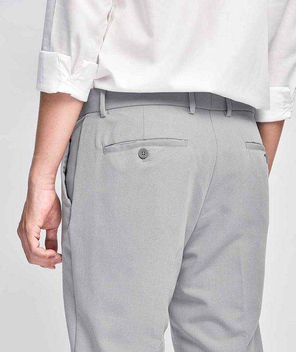 Quần Vải Nam Form Slim Cropped Xám - QV225006 5