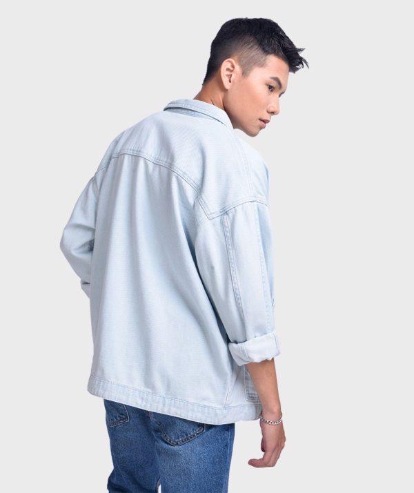 Áo Sơ Mi Nam Tay Dài Jean Form Oversize - SM1042067 2