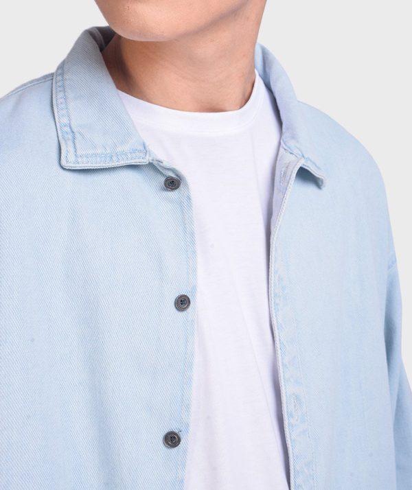 Áo Sơ Mi Nam Tay Dài Jean Form Oversize - SM1042067 3