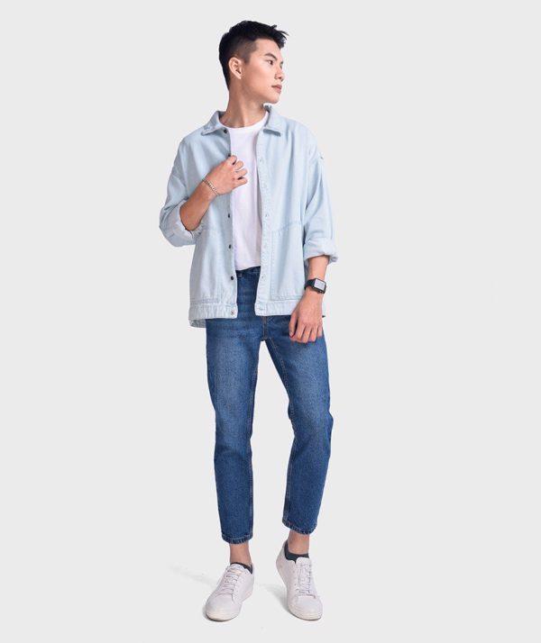 Áo Sơ Mi Nam Tay Dài Jean Form Oversize - SM1042067