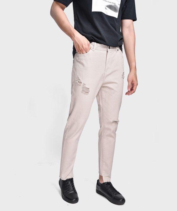 Quần Jean Nam Form Slim Cropped Dye - QJ225003 1