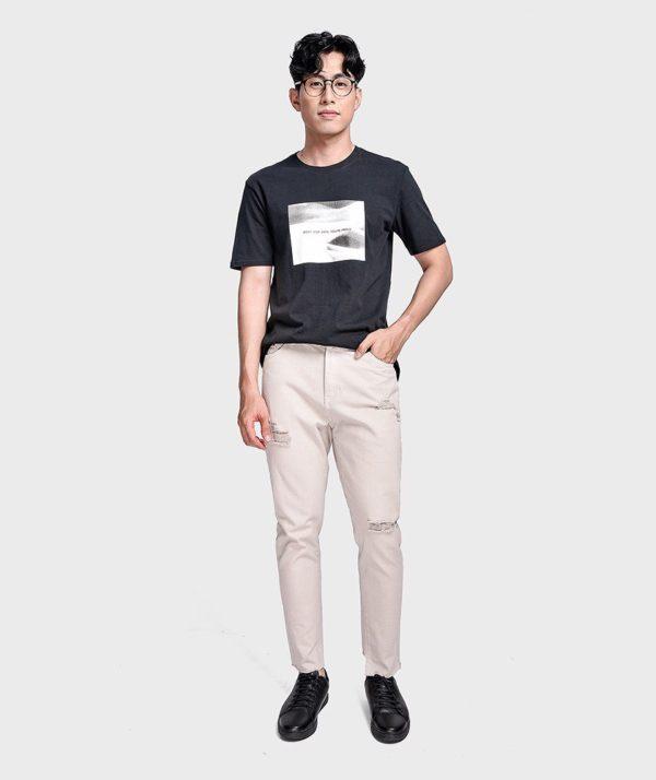 Quần Jean Nam Form Slim Cropped Dye - QJ225003