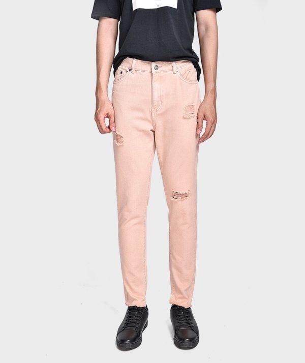 Quần Jean Nam Form Slim Cropped Dye - QJ225004 1