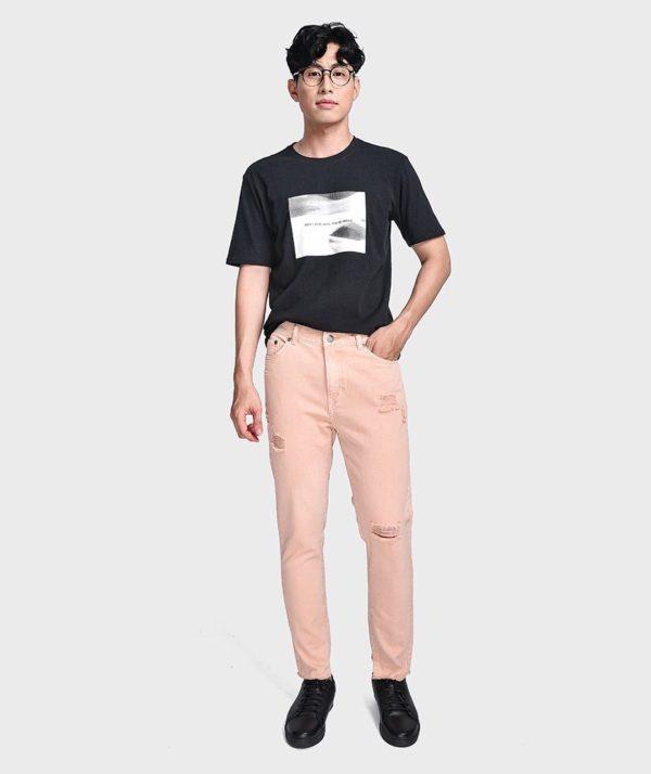 Quần Jean Nam Form Slim Cropped Dye - QJ225004