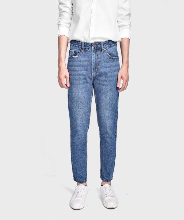 Quần Jean Nam Form Slim Cropped - QJ215001 2