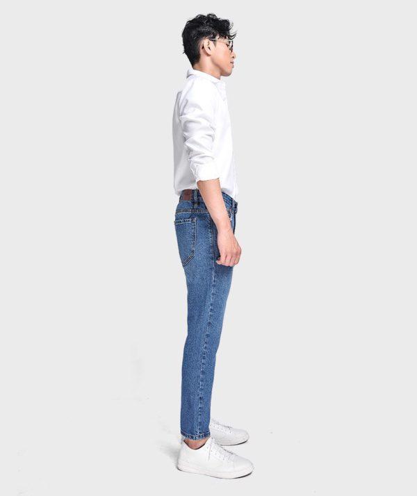 Quần Jean Nam Form Slim Cropped - QJ215001 3