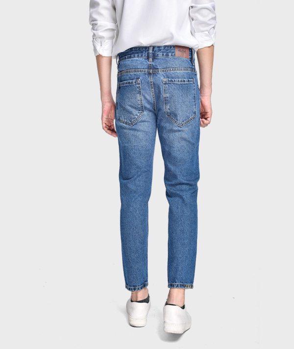 Quần Jean Nam Form Slim Cropped - QJ215001 4