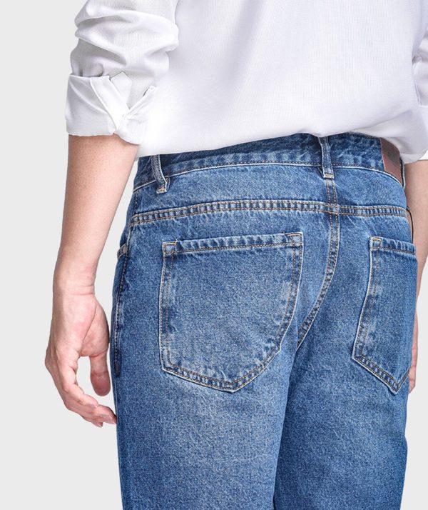 Quần Jean Nam Form Slim Cropped - QJ215001 6