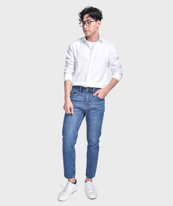 Quần Jean Nam Form Slim Cropped - QJ215001