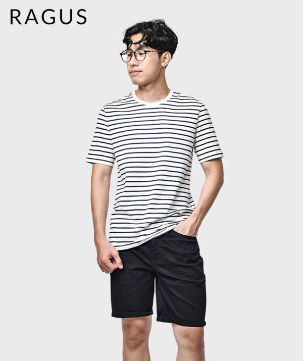 Quần Short Nam Jeans Straight Đen - QS213009