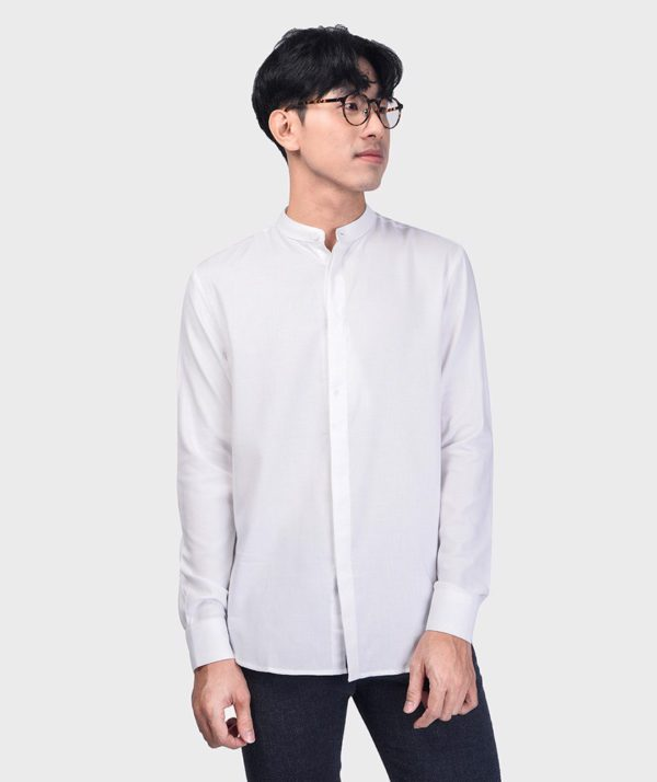 Áo Sơ Mi Nam Tay Dài Cổ Trụ Modal Flannel - SM115100 1
