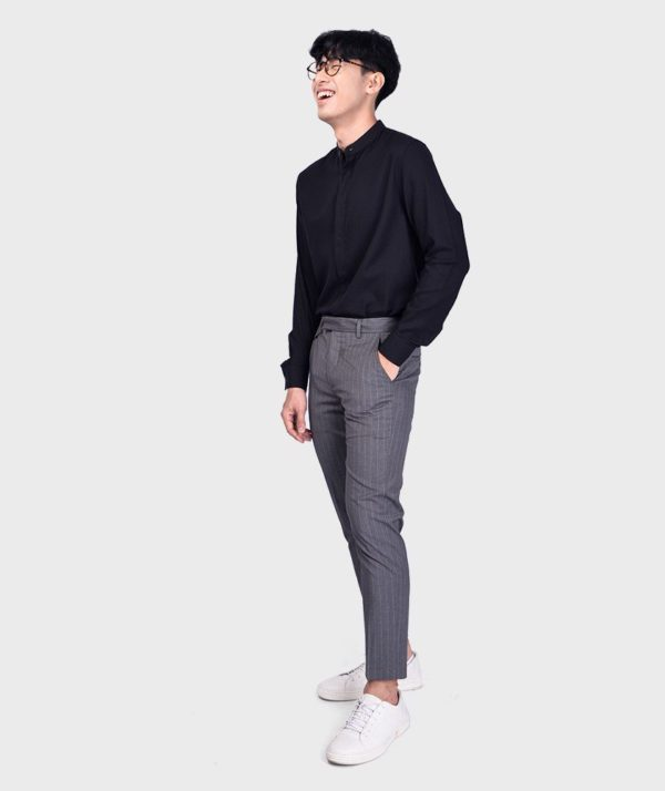 Áo Sơ Mi Nam Tay Dài Cổ Trụ Modal Flannel - SM115100 12