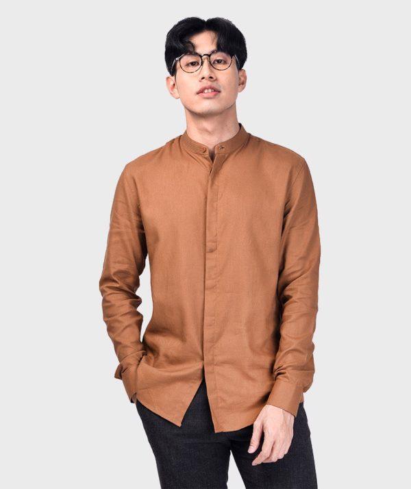 Áo Sơ Mi Nam Tay Dài Cổ Trụ Modal Flannel - SM115100 13