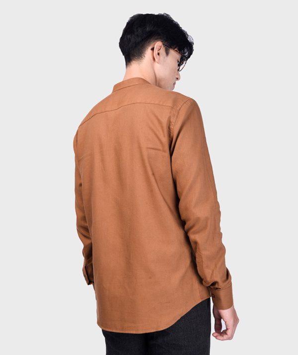 Áo Sơ Mi Nam Tay Dài Cổ Trụ Modal Flannel - SM115100 14