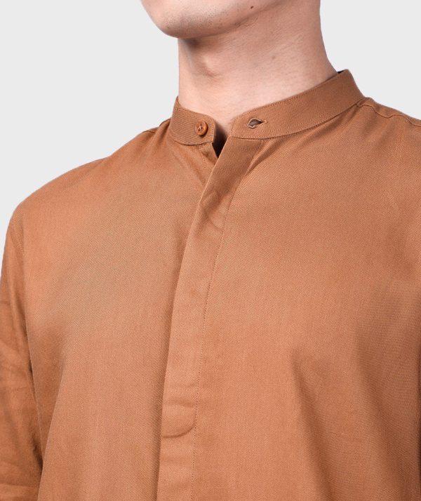 Áo Sơ Mi Nam Tay Dài Cổ Trụ Modal Flannel - SM115100 16