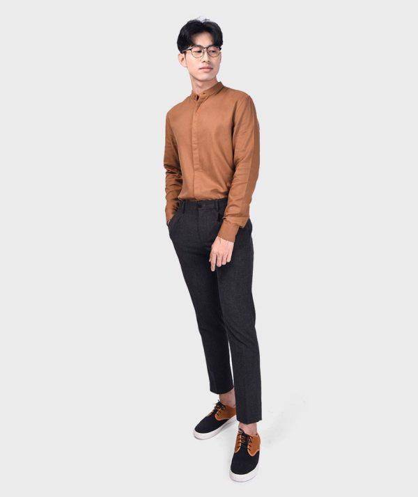 Áo Sơ Mi Nam Tay Dài Cổ Trụ Modal Flannel - SM115100 18