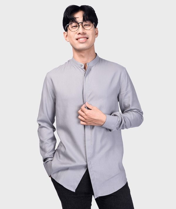 Áo Sơ Mi Nam Tay Dài Cổ Trụ Modal Flannel - SM115100 19