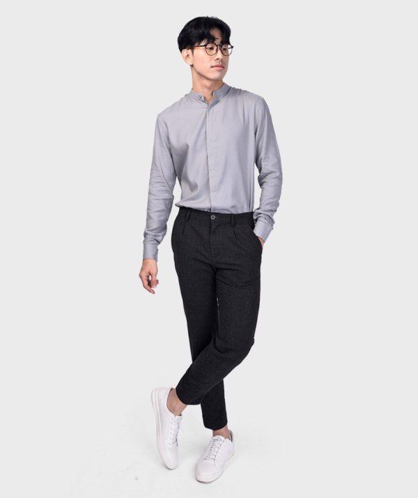 Áo Sơ Mi Nam Tay Dài Cổ Trụ Modal Flannel - SM115100 24