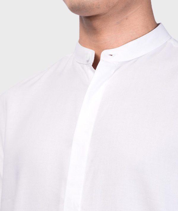 Áo Sơ Mi Nam Tay Dài Cổ Trụ Modal Flannel - SM115100 4