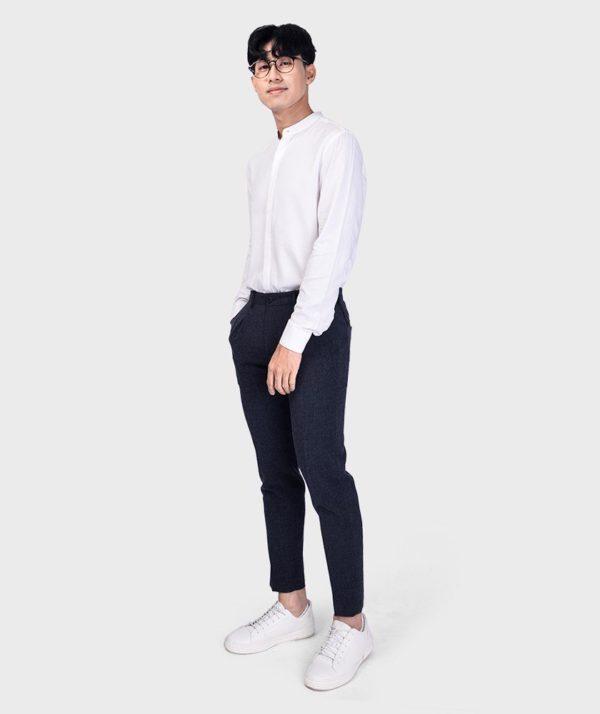 Áo Sơ Mi Nam Tay Dài Cổ Trụ Modal Flannel - SM115100 6