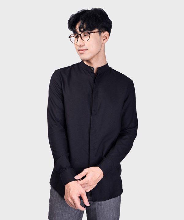 Áo Sơ Mi Nam Tay Dài Cổ Trụ Modal Flannel - SM115100 7