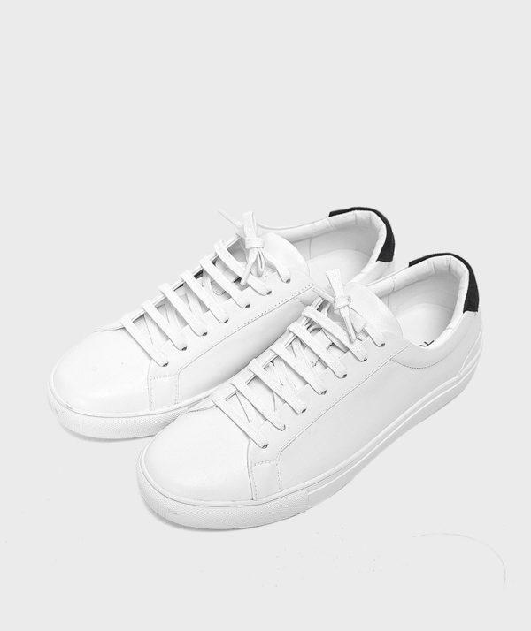 Giày Nam Sneaker Trắng Gót Đen Hàn Quốc mốt 2019 1