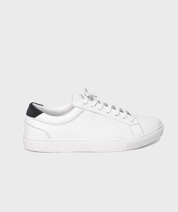 Giày Nam Sneaker Trắng Gót Đen Hàn Quốc mốt 2019 2