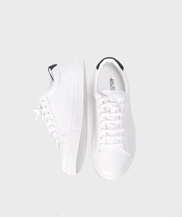 Giày Nam Sneaker Trắng Gót Đen Hàn Quốc mốt 2019 3