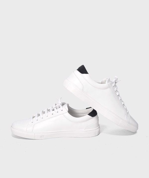 Giày Nam Sneaker Trắng Gót Đen Hàn Quốc mốt 2019 4