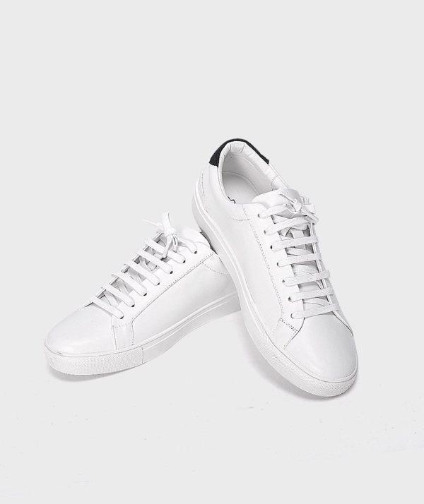Giày Nam Sneaker Trắng Gót Đen Hàn Quốc mốt 2019 5