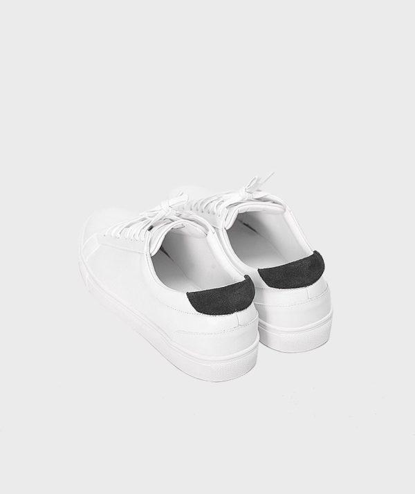 Giày Nam Sneaker Trắng Gót Đen Hàn Quốc mốt 2019 6